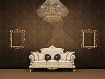 inre lyxigt kungligt avstånd för lägenhet stock illustrationer