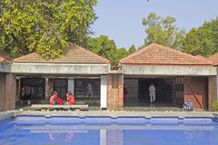 Inre Mahatma Gandhi museum, Ahmedabad Royaltyfri Bild