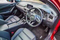 Inre Mazda3 2016 Arkivbilder