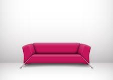 Inre med den rosa soffan Arkivbild