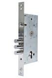 Inre mekanism av att låsa för dörr Arkivfoton