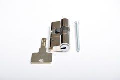 Inre mekanism av att låsa för dörr arkivbild