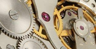 Inre mekanism av klockor Royaltyfria Bilder