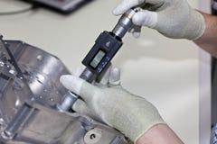 inre mikrometerskruv Fotografering för Bildbyråer