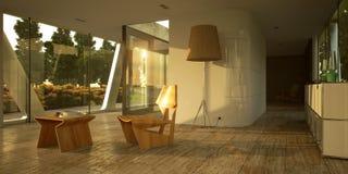 inre minimalist modernt Royaltyfri Fotografi