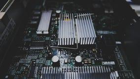 Inre moderkort av serveren, RAM royaltyfri foto