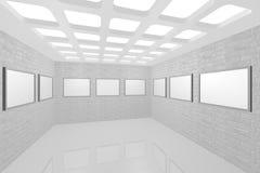inre modern bild för galleri Royaltyfria Bilder