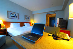 inre modern lokal för hotell Arkivbilder