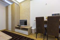 inre modern lokal för hotell Arkivfoton