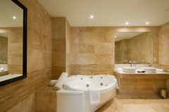 inre modernt för badrum Arkivfoton