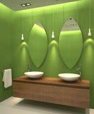 inre modernt för badrum Vektor Illustrationer