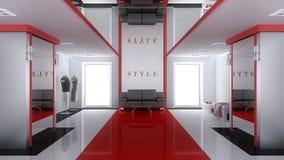 inre modernt för boutique Arkivbild