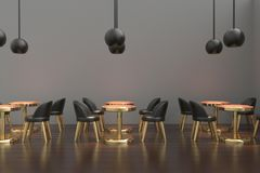 inre modernt för cafe framförande 3d royaltyfri illustrationer