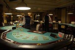 inre modernt för kasino Arkivfoton