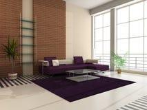 inre modernt för korridor Royaltyfria Bilder