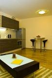 inre modernt för lägenhet Fotografering för Bildbyråer