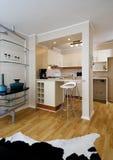 inre modernt för lägenhet Royaltyfri Fotografi