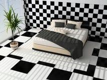 inre modernt för sovrum Arkivbild