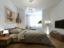 inre modernt för sovrum Royaltyfria Bilder