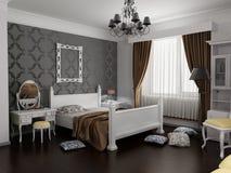inre modernt för sovrum Royaltyfri Bild