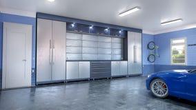 inre modernt f?r garage fotografering för bildbyråer