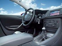 inre modernt för bil Arkivfoton