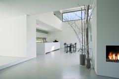 inre modernt för hus Arkivfoton