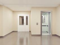 inre modernt framförande för korridor 3d stock illustrationer
