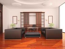 inre modernt kontor royaltyfri illustrationer