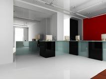 inre modernt kontor Arkivfoton