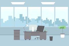 inre modernt kontor blå vektor för sky för oklarhetsbildregnbåge vektor illustrationer