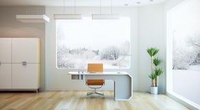 inre modernt kontor för design royaltyfri illustrationer