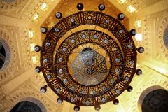 Inre moské av islam royaltyfri bild