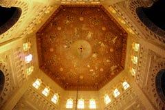 Inre moské av islam arkivfoton
