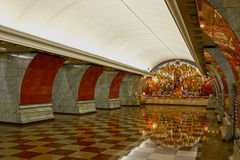 Inre Moskvatunnelbanastation Royaltyfri Foto