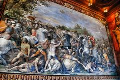 inre museum rome för capitoline Arkivbilder