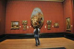 Inre National Gallerymuseum i London, England Arkivbild