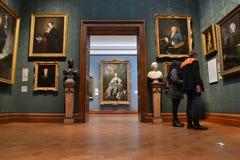Inre National Portrait Gallery London Royaltyfri Foto