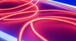 Inre neonljus för nattklubb stock illustrationer