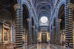 Inre nolla Siena Cathedral Duomo di Siena, medeltida kyrka, det Royaltyfri Bild