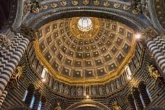Inre nolla Siena Cathedral Duomo di Siena, medeltida kyrka, det Royaltyfri Foto