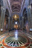 Inre nolla Siena Cathedral Duomo di Siena, medeltida kyrka, det Arkivbilder