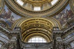 Inre och arkitektoniska detaljer av det kyrkliga helgonet Agnes in sedan Royaltyfria Bilder