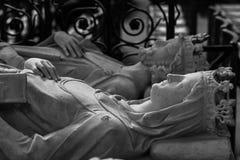 Inre och detaljer av basilikan av St Denis Paris Fran Royaltyfri Foto