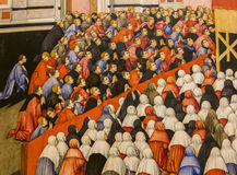 Inre och detaljer av den Siena domkyrkan, Siena, Italien Royaltyfria Bilder