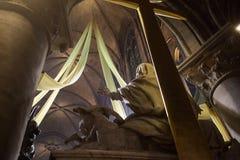 Inre och detaljer av Notre Dame de Paris Arkivfoto