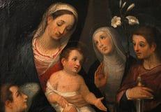 Inre och detaljer av Palazzo Pubblico, Siena, Italien Royaltyfri Foto