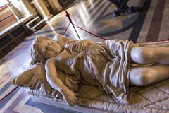 Inre och detaljer av Palazzo Pubblico, Siena, Italien Arkivbilder