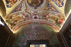 Inre och detaljer av Vaticanenmuseet, Vatican City Arkivbilder