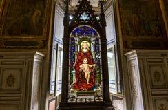 Inre och detaljer av Vaticanenmuseet, Vatican City Royaltyfri Bild